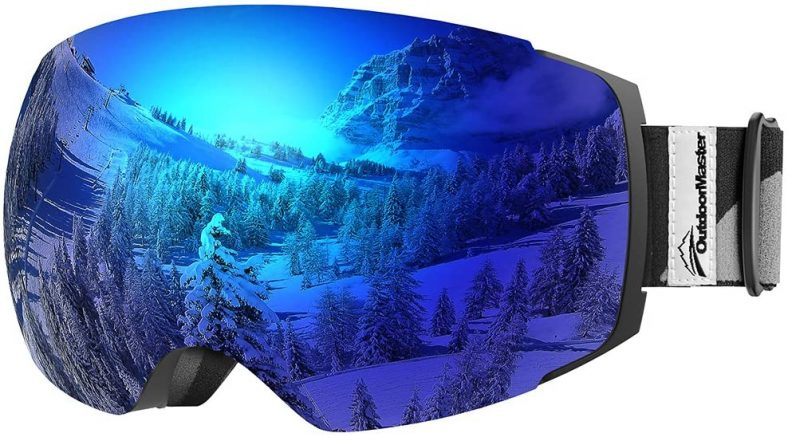 OutdoorMaster Ski Goggles PRO - Frameless with Interchangeable Lens