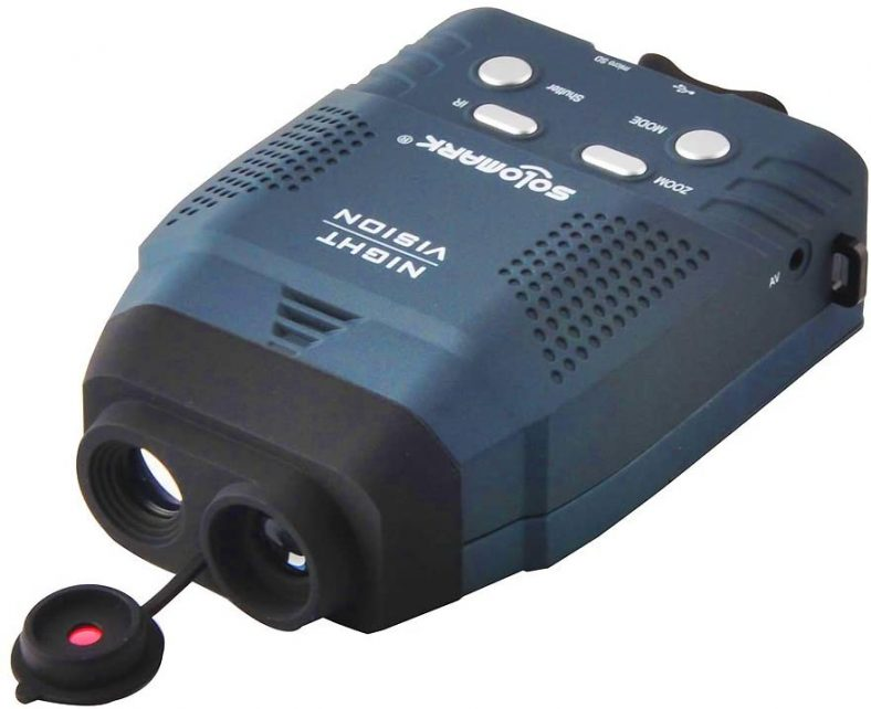Solomark Night Vision Monocular: viewing in the dark, record images and videos