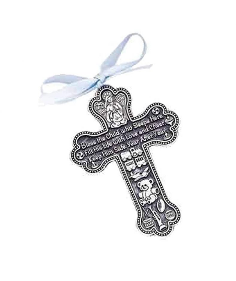 Bless The Child - GUARDIAN ANGEL Baby BOY Crib Cross